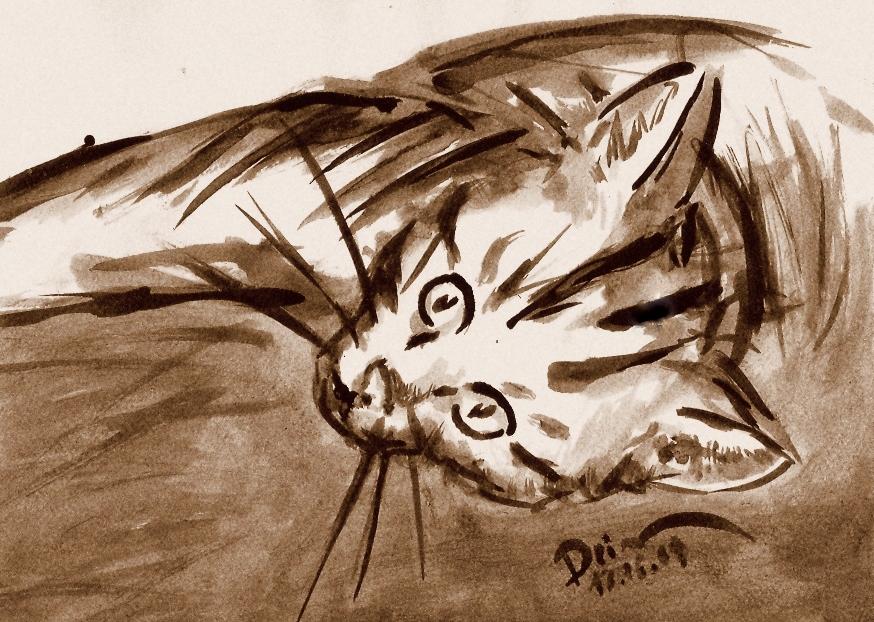 http://fc09.deviantart.net/fs47/f/2009/181/7/4/Sepia_Realistic_Cat_by_Dzinka.jpg