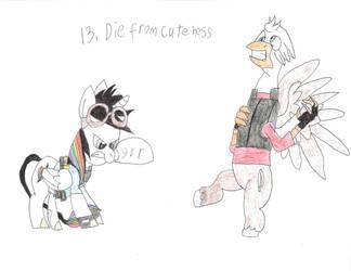 13. die from cuteness by eleboy