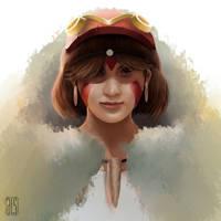 Mononoke Hime by alphalimasierra