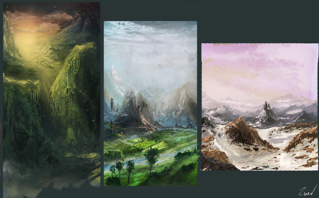 Landscape drawings by Eugene921