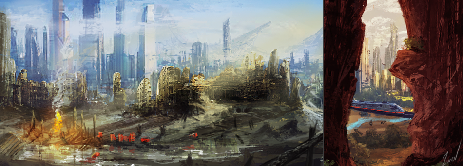 Future environment drawings by Eugene921