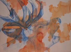 An elk-triptychon III by lenischoen