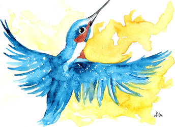 River Kingfisher II by lenischoen