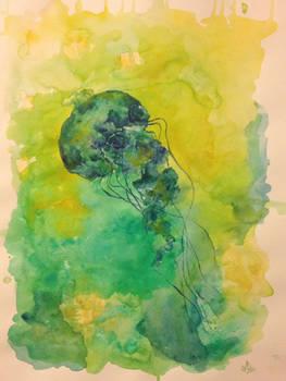 Green yellyfish