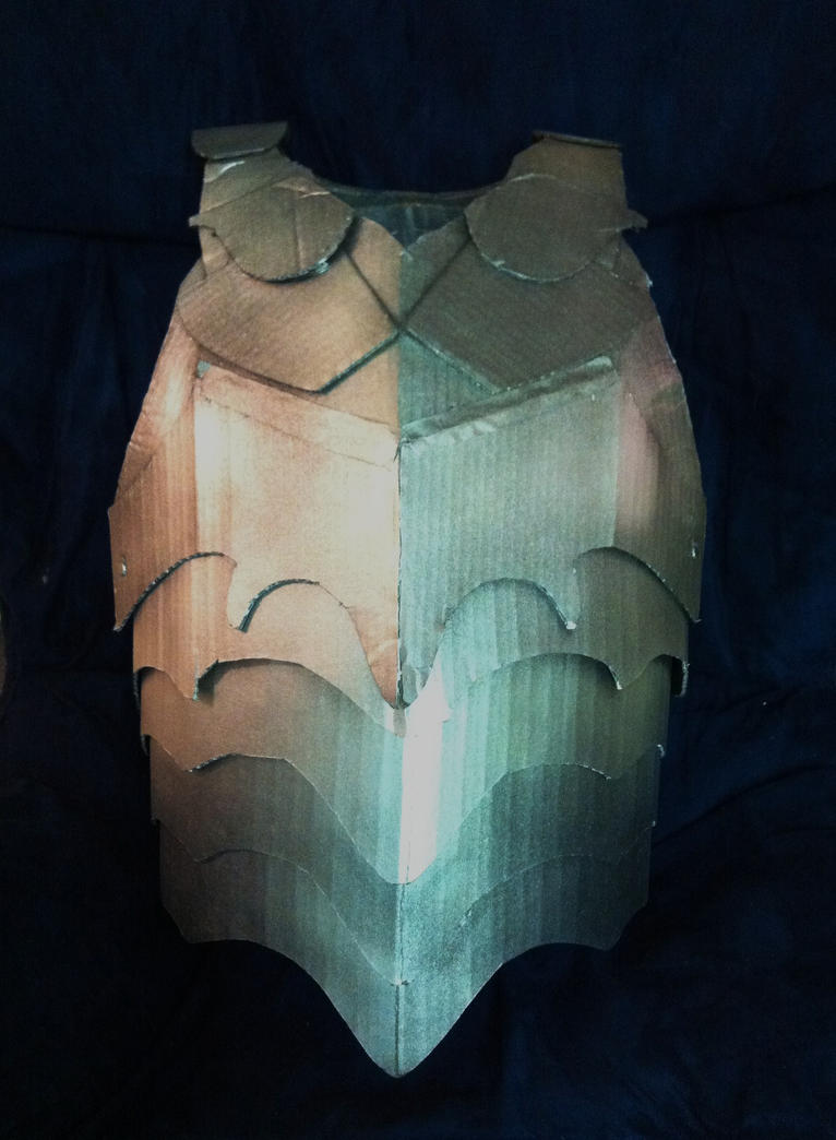 Cardboard Breastplate armor by SabrePanther on DeviantArt