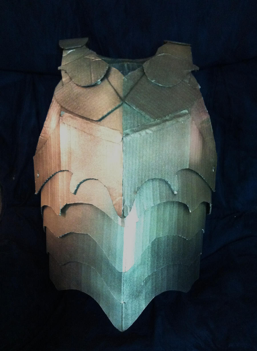 cardboard armour template cardboard breastplate armor by sabrepanther on deviantart