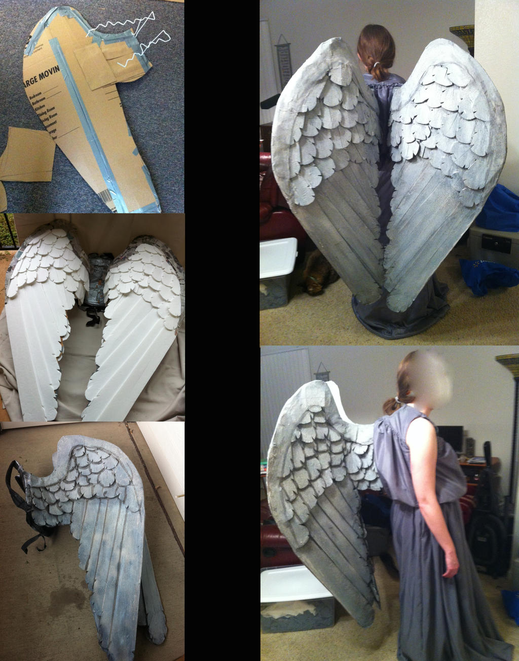 stone angel wings progress by sabrepanther on deviantart