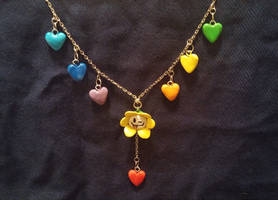 Flowey Necklace by SabrePanther