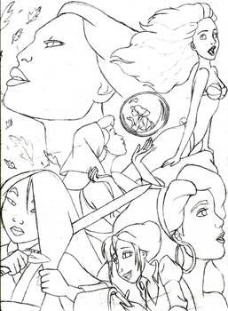 Disney Poster (Line Art)