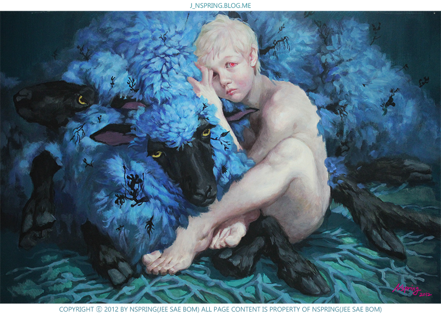 Blue Sheep and Boy (2012) by pt0317