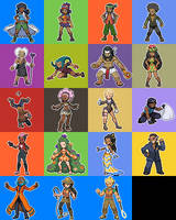 Sunga Region Characters by JaneJewel