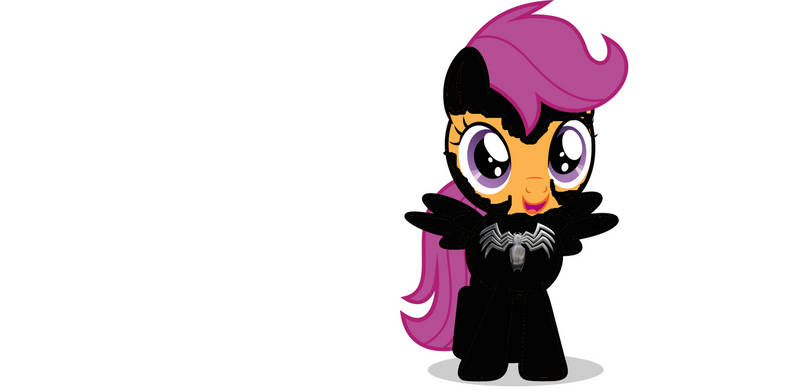 Scootaloo/spider filly/venom unmask and first time