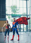 Wonder Woman Injustice and Superman cosplay