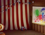 Circus bg2 by SophiaBlackwoodArt