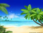 Beach bg by SophiaBlackwoodArt