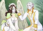 Vethonion and Tuilindo: shironuri by SophiaBlackwoodArt