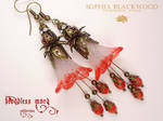 Bloodless Mary: Ivette, hand-painted earrings