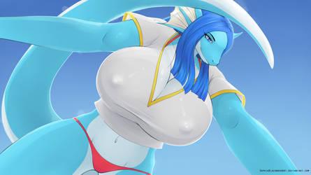 Dragongirl: bikini swap by SophiaBlackwoodArt