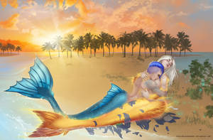 Ana and Camilla: mermaid transformation [frame 4] by SophiaBlackwoodArt