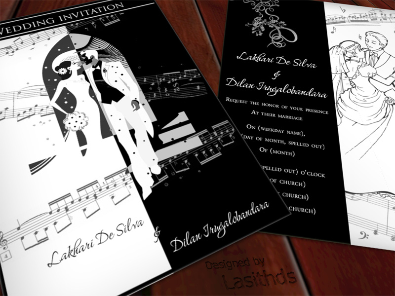 Wedding invitation card 1 by Lasithds on DeviantArt