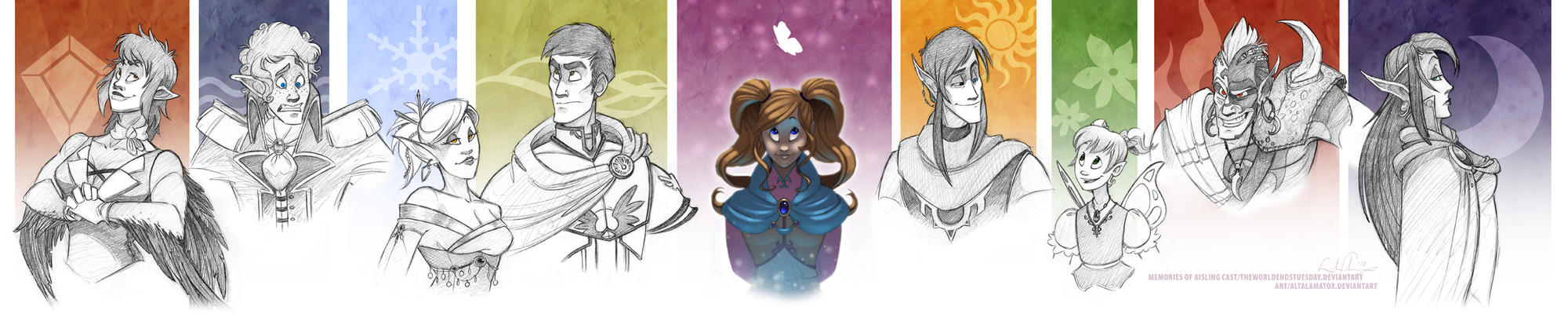 Memories of Aisling Lineup by Altalamatox