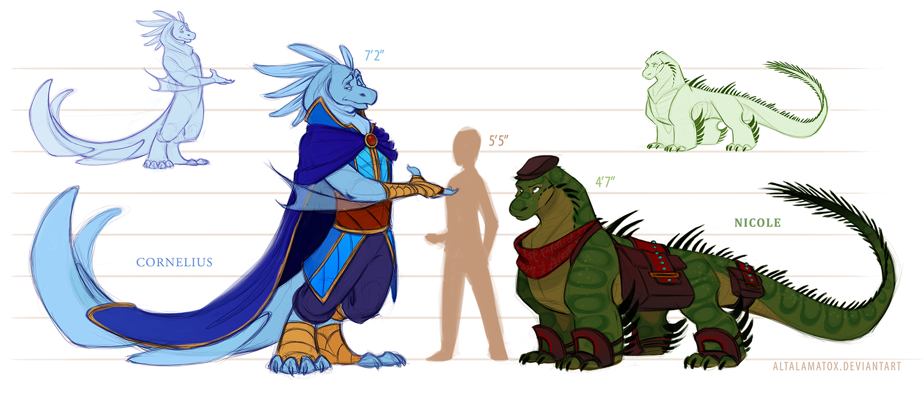 Character Design: Cornelius vs. Nicole by Altalamatox