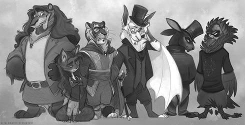 Critter Crew by PookaDoodle