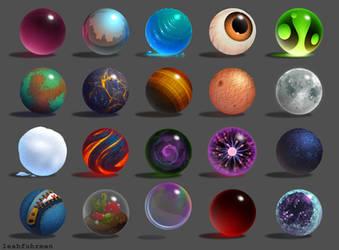 Spheres by PookaDoodle