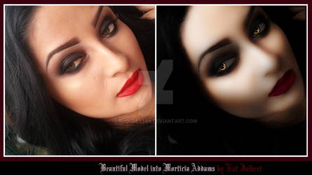 Model Morph to  Morticia