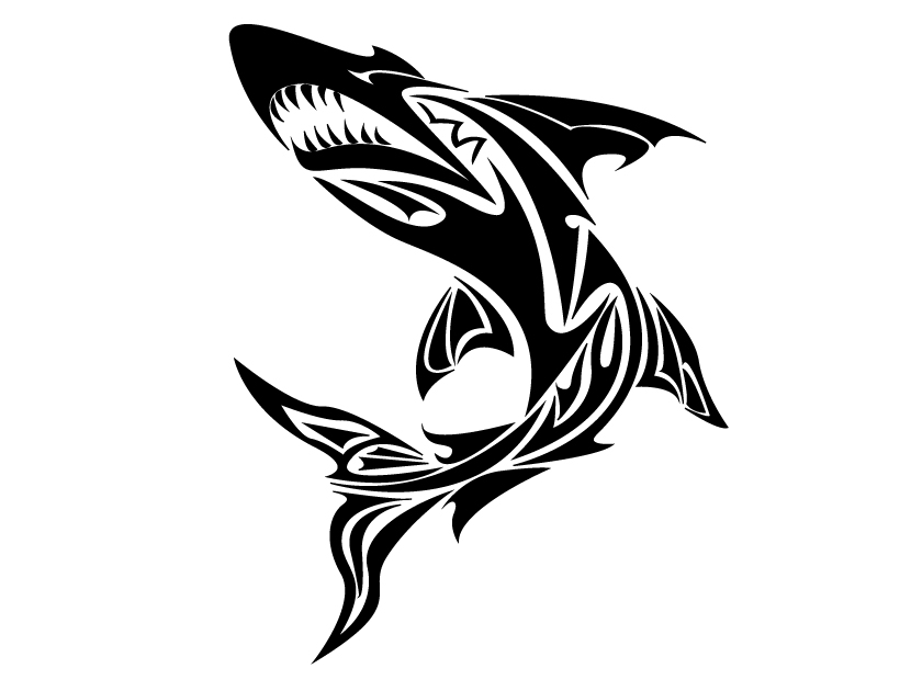 Tribal Shark Head