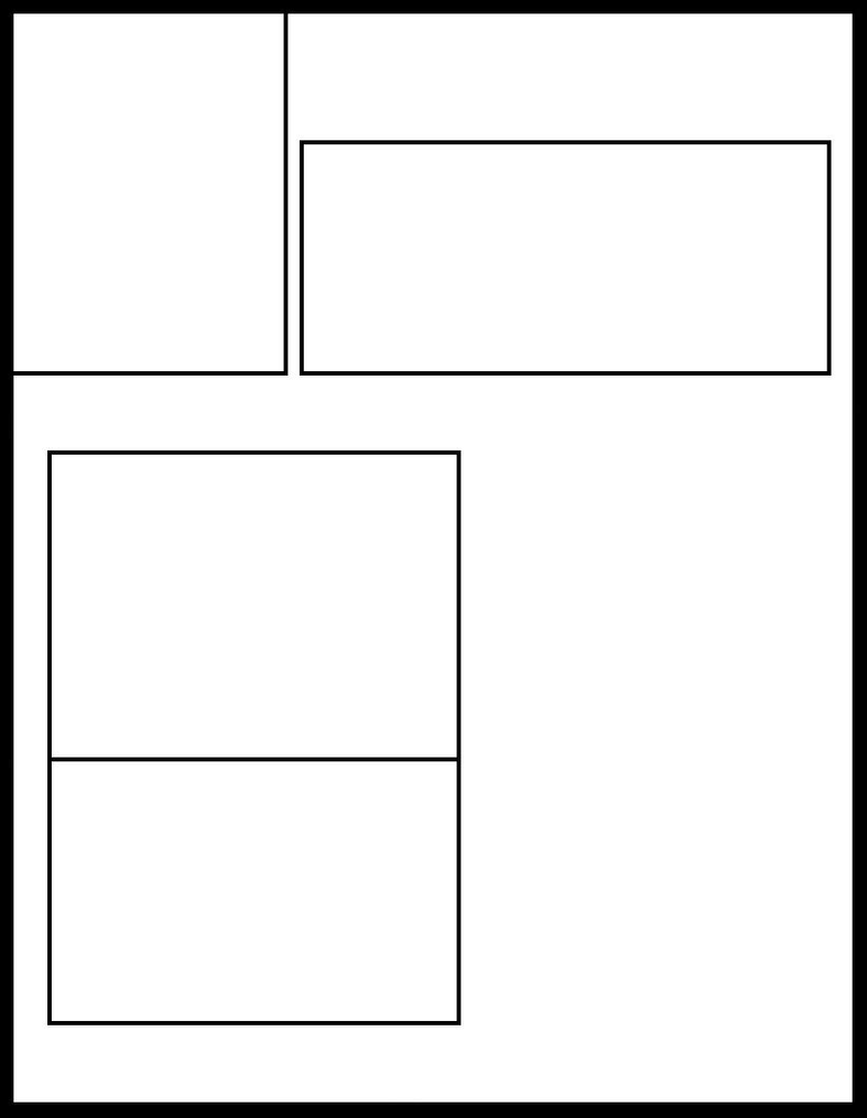 manga template 1 by comic templates on deviantart. Black Bedroom Furniture Sets. Home Design Ideas