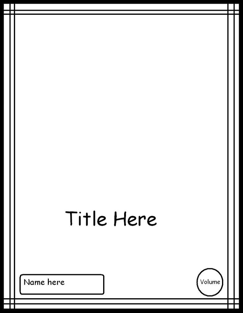 manga cover template 1 by comic templates on manga cover template 3 by comic templates
