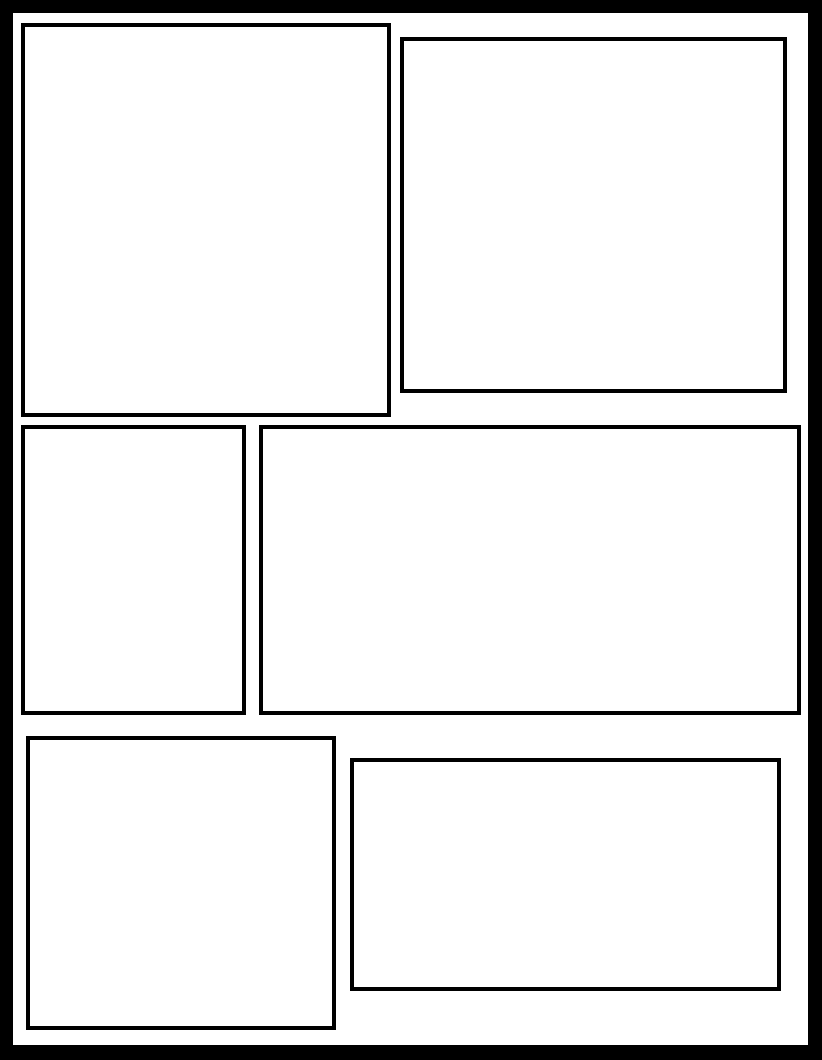 Comic template explore hundreds of layout options comic for Comic book page template psd