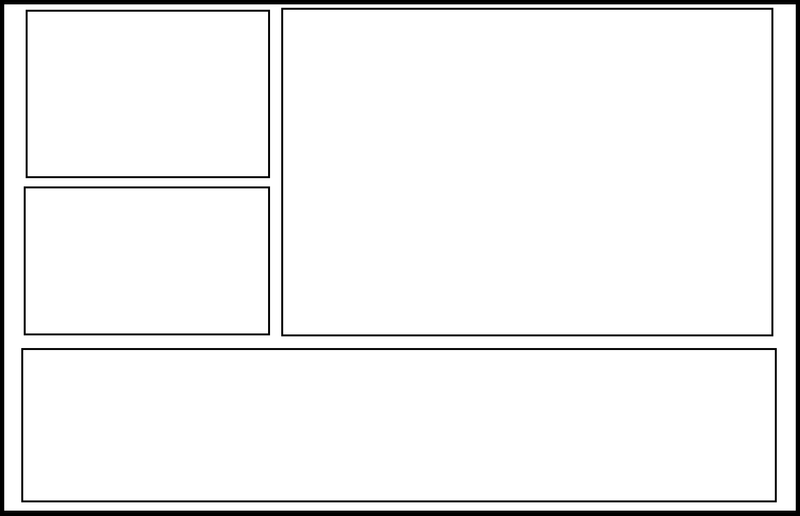 Double Page 1 By Comic Templates ...  Lined Paper With Drawing Box