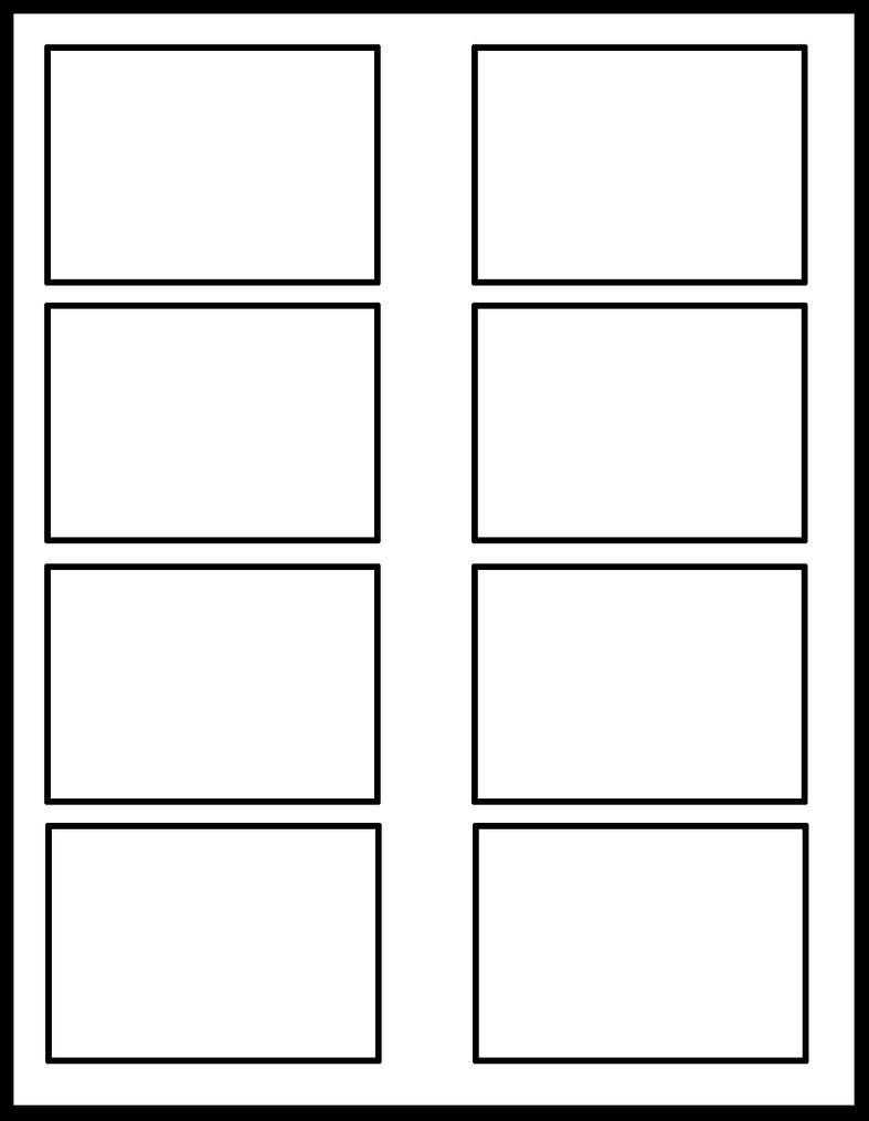 four panel comic strip template - 2x4 template by comic templates on deviantart