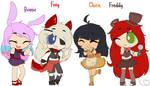 FNaF 1 Girls - Main Animatronics