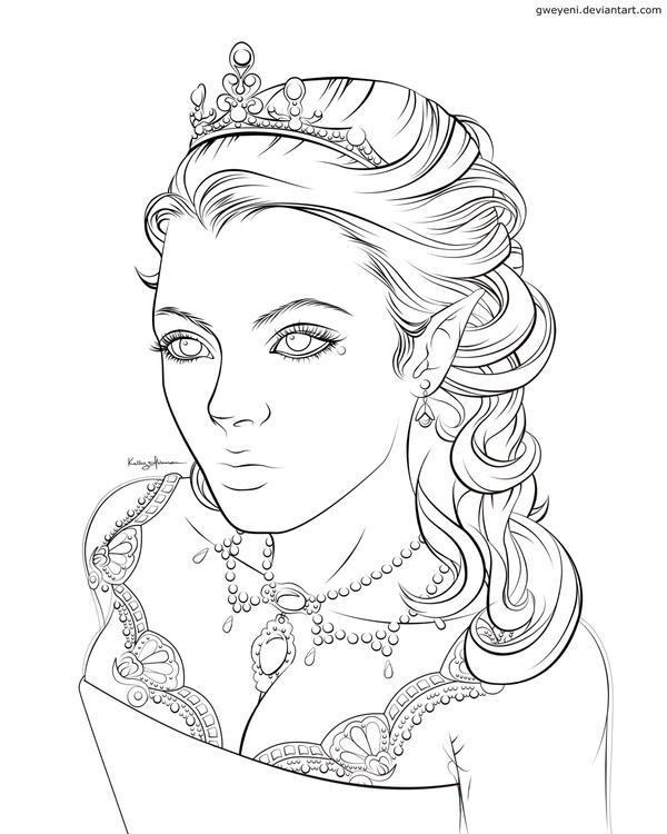 Elf Queen Lines by Gweyeni