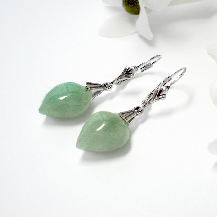 Jade Earrings by Gweyeni
