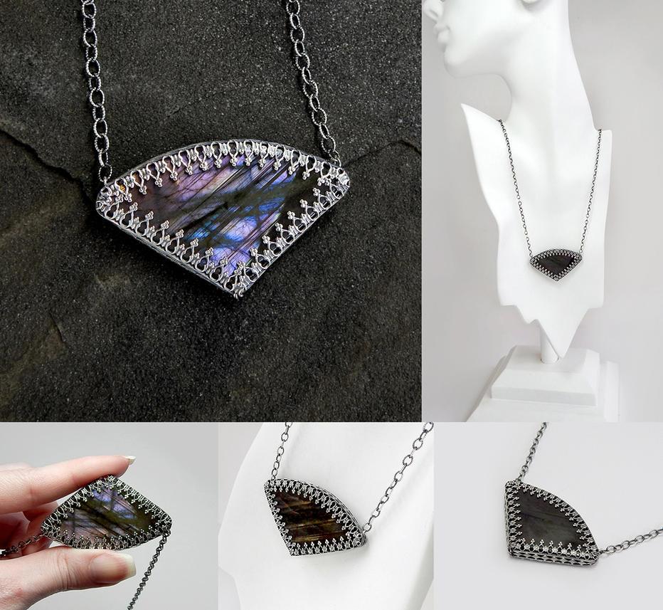 Purple Labradorite Necklace by Gweyeni