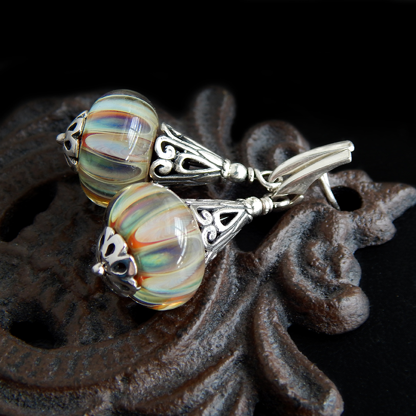 Boro Glass Earrings by Gweyeni
