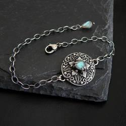 Labradorite Star Flower Bracelet