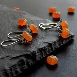 Tiny Pumpkin Earring Patch