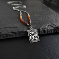 Celitc Knot Autumn Leaf Necklace