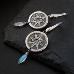 Star Medallion Earrings