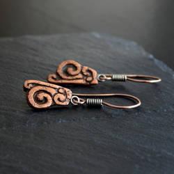 Copper Aztec Earrings
