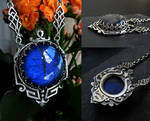 Blue Labradorite Art Deco Necklace