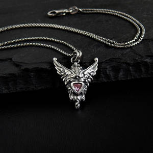 Little Pink Valkyrie Necklace