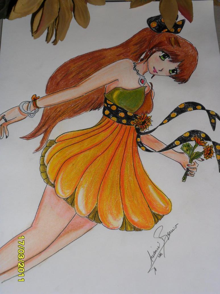 Sunflower Dress by NAKYOKIAMI