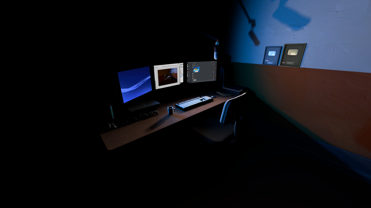 [SFM + Photoshop] Desk by NyxOsiris