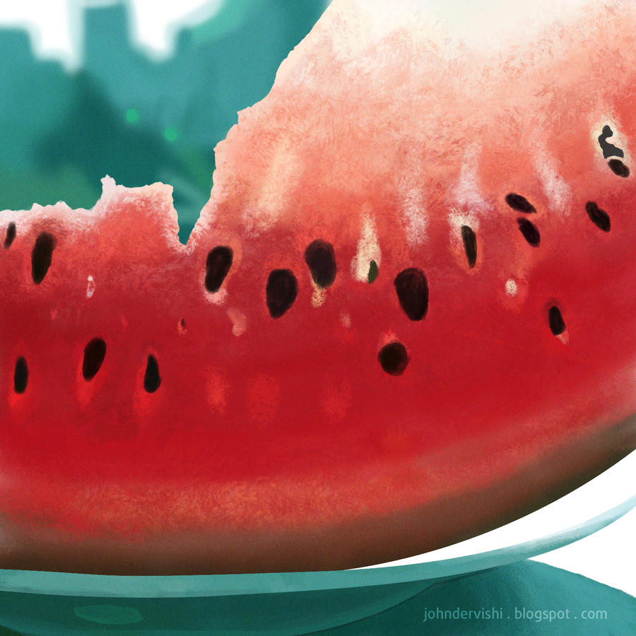 Watermelon study by JohnDervishi